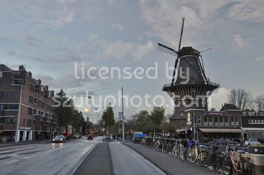De Gooyer Windmill from the Zeeburgerstraat - Adam Szuly Photography