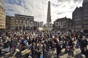 Gathering for the pillow fight day in Amsterdam - Adam Szuly Photography