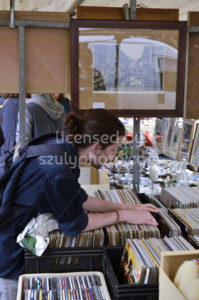 Record collector at the flee market - Adam Szuly Photography