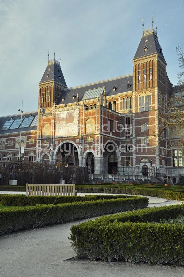 Rijksmuseum from the garden - Adam Szuly Photography
