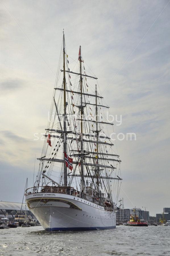 The Statsraad Lehmkuhl tall ship at the SAIL Amsterdam - Adam Szuly Photography