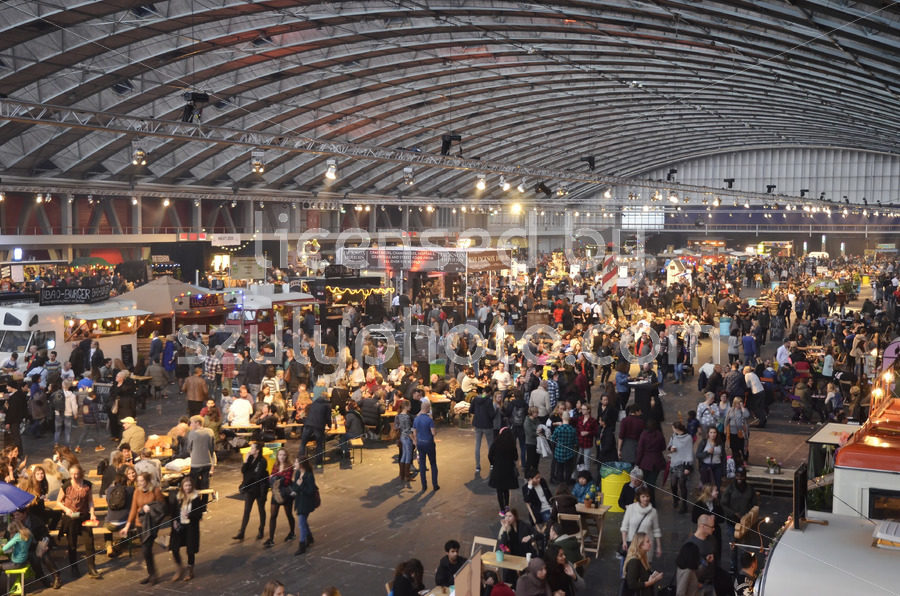 View of the Foodfestival from the north mezzanine - Adam Szuly Photography