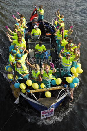 Ambulance Amsterdam on the boat parade - Adam Szuly Photography