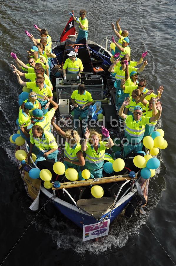Ambulance Amsterdam on the boat parade - Adam Szuly Photography