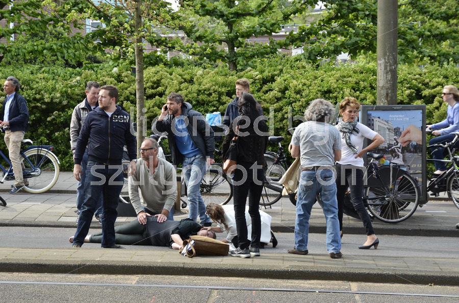 Bicycle accident in Amsterdam - Adam Szuly Photography