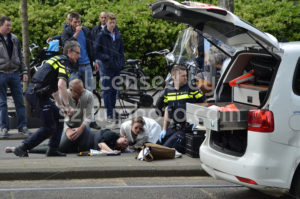 Bicycle accident on the Beethovenstraat close view - Adam Szuly Photography