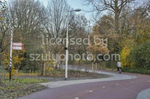 Bike path in Amsterdam in the Beatrixpark - Adam Szuly Photography
