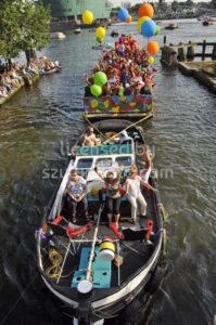 Boat with balloons at the Pride 2015 - Adam Szuly Photography