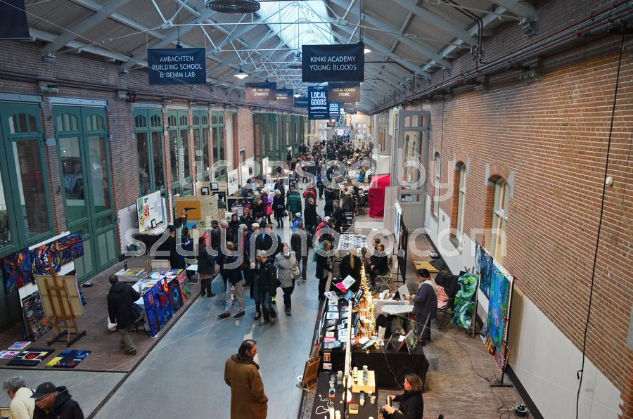 Christmas market at the De Hallen event hall - Adam Szuly Photography