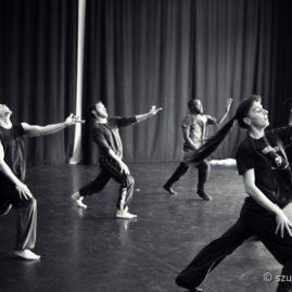 Afternoon rehearsal of the internationa dance group De Kiss Moves in Amsterdam.