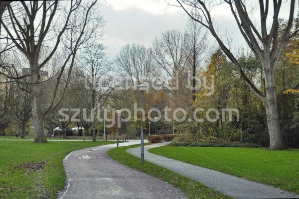 Empty bike path in the Beatrixpark in Amsterdam - Adam Szuly Photography