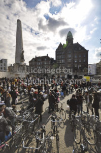 Gathering for the pillow fight on the Dam Square - Adam Szuly Photography