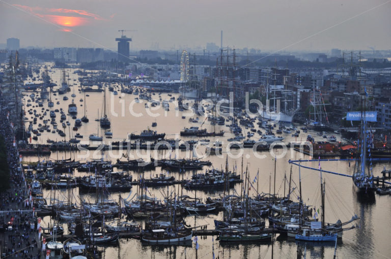 High view of the Ijhaven port in Amsterdam - Adam Szuly Photography