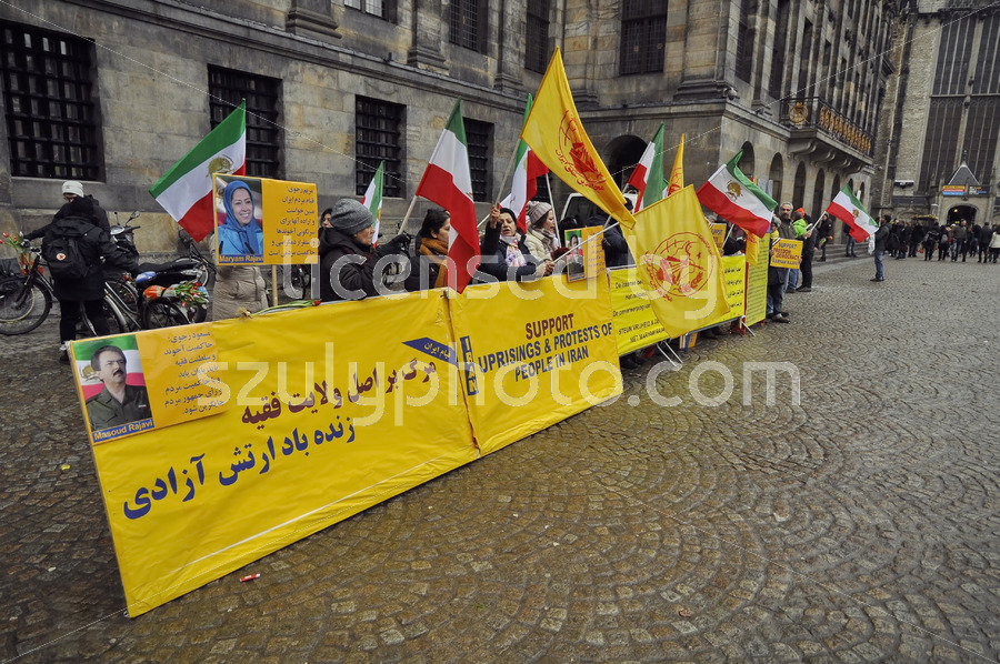 Iran protesters in Amsterdam - Adam Szuly Photography
