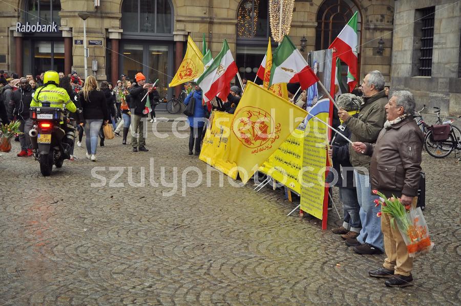 Iran uprising supporters on the Dam Square - Adam Szuly Photography