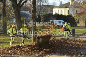 Leaf blowers in the park - Adam Szuly Photography