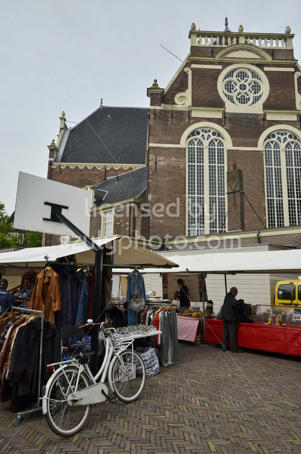 North view of the weekend market on the Noordermarkt - Adam Szuly Photography