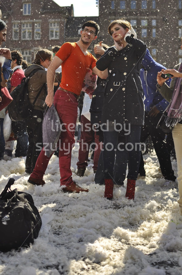 Participants of the pillow fight day in Amsterdam - Adam Szuly Photography