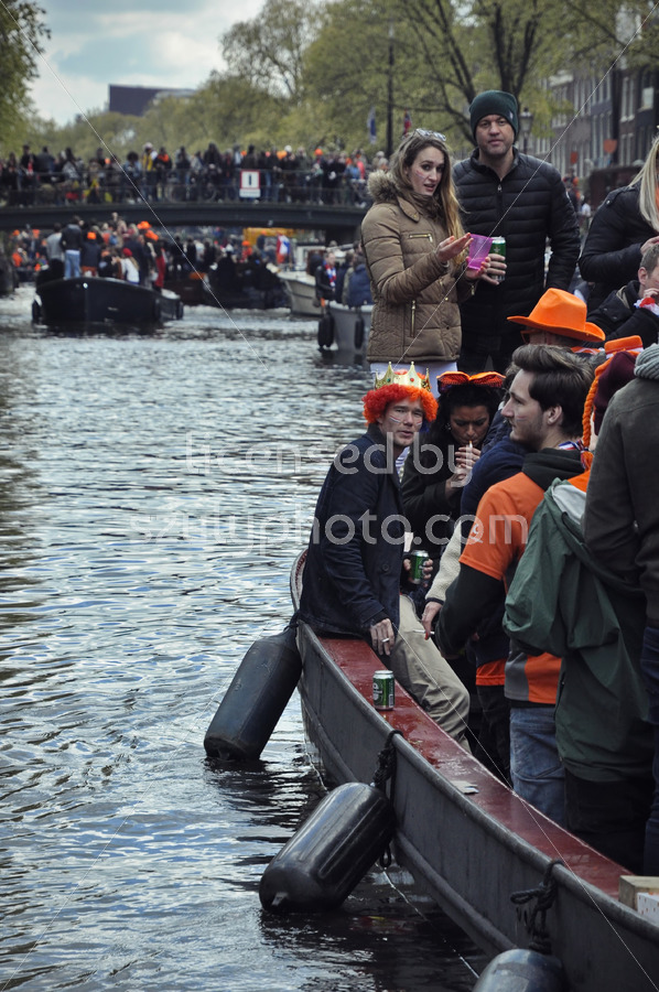Passenger boat at the King's Day cruise - Adam Szuly Photography