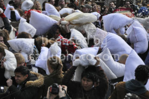 Pillow fighting in Amsterdam - Adam Szuly Photography