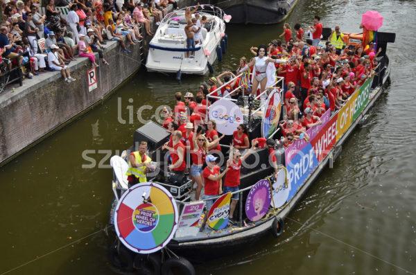 Pride Amsterdam Boat Parade – Google Boat - Adam Szuly Photography