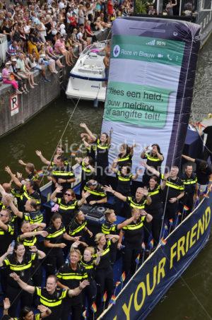 Pride Amsterdam Boat Parade – Police Boat - Adam Szuly Photography