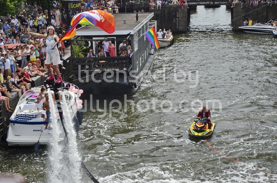 Pride Amsterdam Flyboarder - Adam Szuly Photography