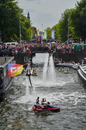 Pride Amsterdam Flyboarders - Adam Szuly Photography