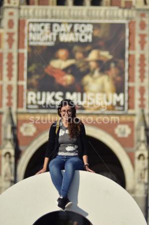 Sitting on the Iamsterdam sign - Adam Szuly Photography