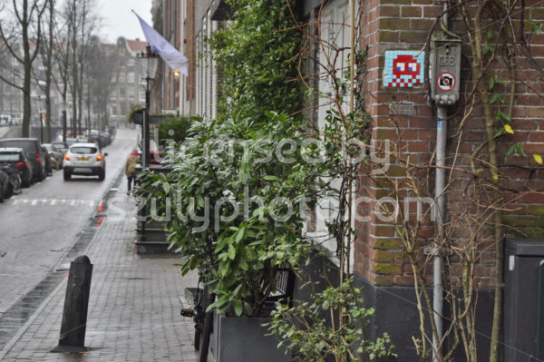 Space Invader Lauriergracht - Adam Szuly Photography