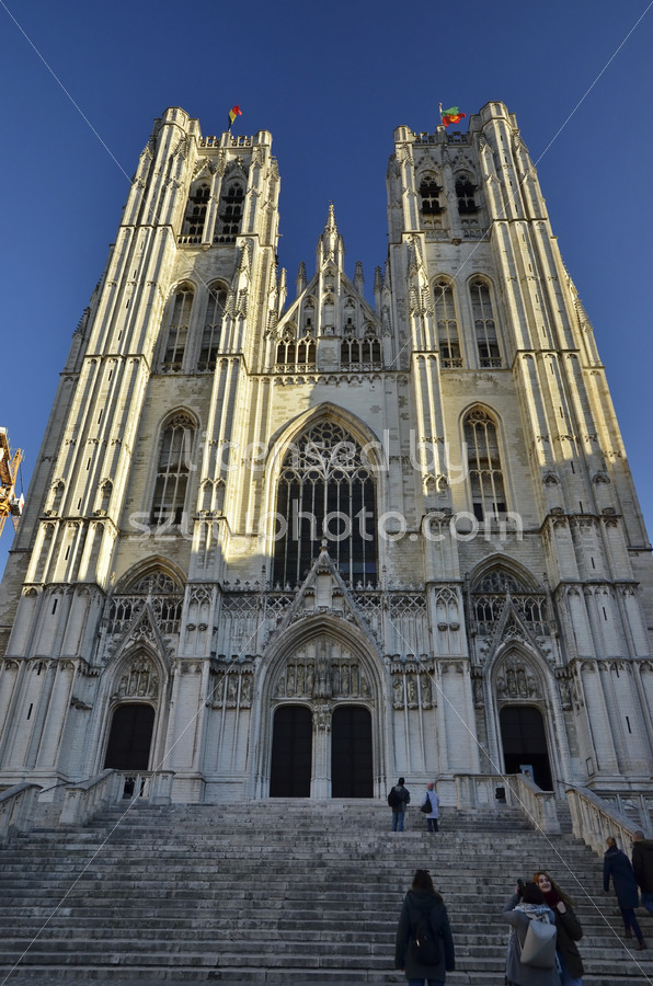 St Michael and St Gudula Cathedral frontal - Adam Szuly Photography