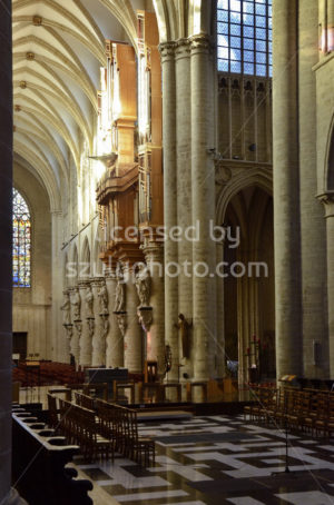 St Michael and St Gudula Cathedral indoors - Adam Szuly Photography