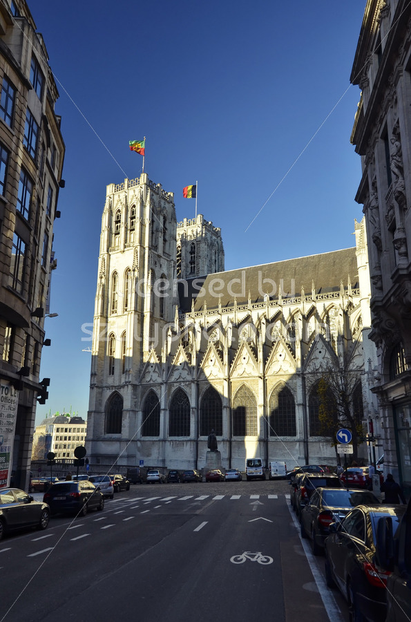 St Michael and St Gudula Cathedral south side view - Adam Szuly Photography