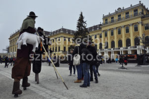 Stilt Walkers at the Schonbrunn Christmas - Adam Szuly Photography