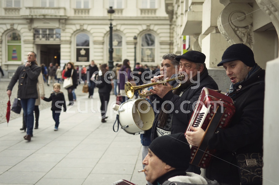 Street Musicians in downtown Brussels - Adam Szuly Photography