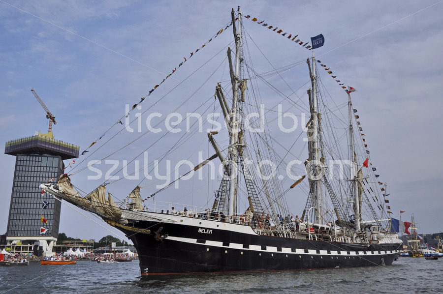 The Belem under the blue sky at the SAIL Amsterdam - Adam Szuly Photography