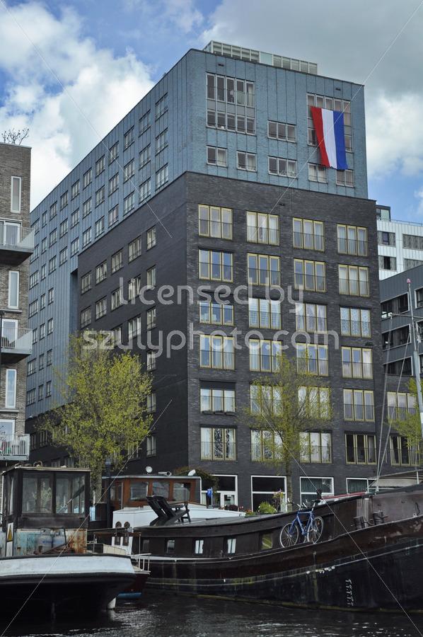 The Dutch flag on the Westerdok - Adam Szuly Photography