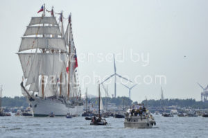 The Esmeralda tall ship on the Ij river - Adam Szuly Photography