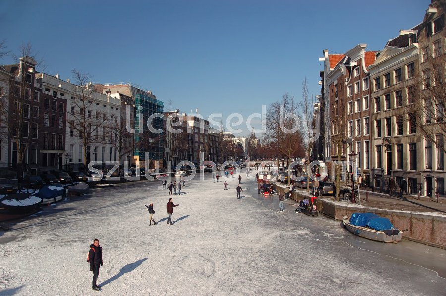 The Frozen Prinsengracht Canal - Adam Szuly Photography