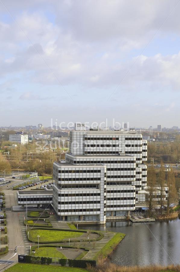 The IBM Building aerial view - Adam Szuly Photography
