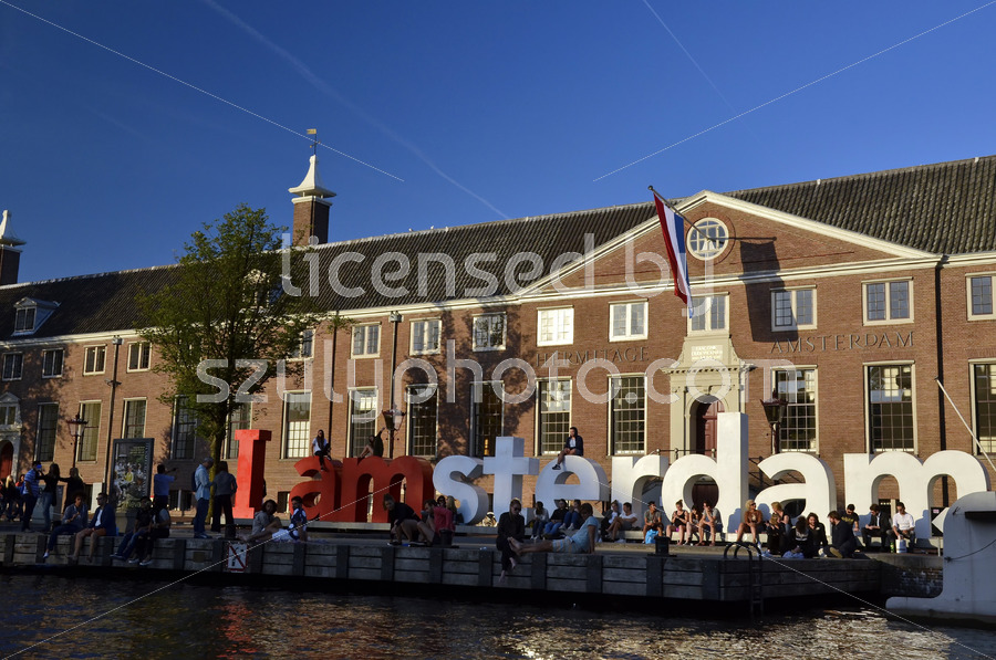 The Iamsterdam sign and the Hermitage - Adam Szuly Photography