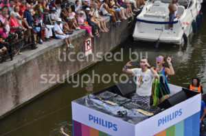 The Philips boat at the Pride Amsterdam Boat Parade 2018 - Adam Szuly Photography