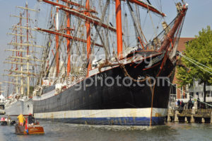 The Sedov tall ship docked in the Ijhaven - Adam Szuly Photography