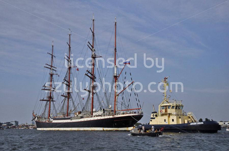 The Sedov tall ship on the Ij river - Adam Szuly Photography