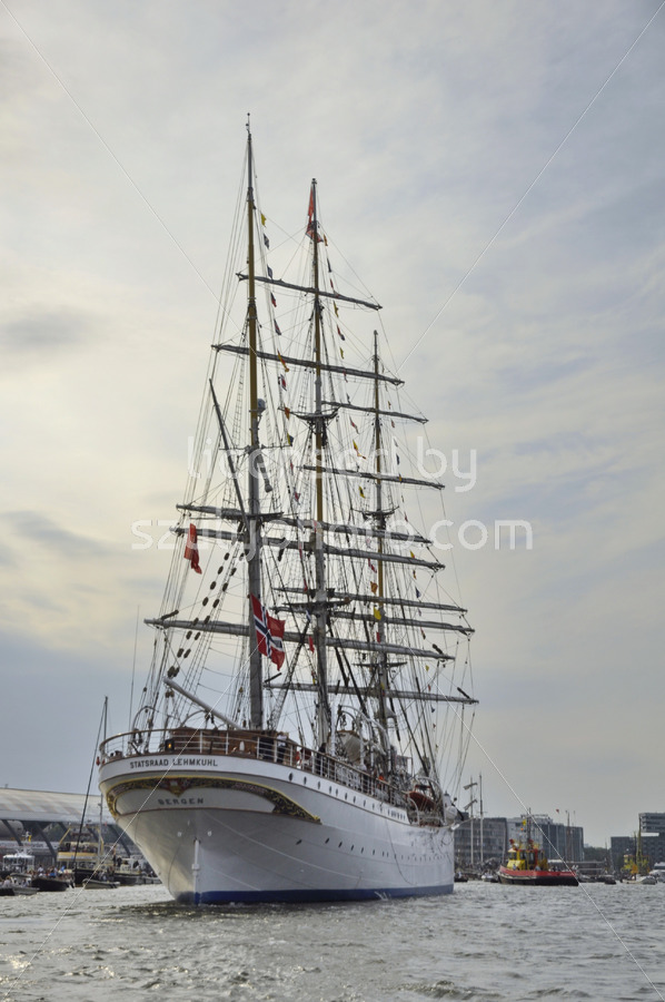 The Statsraad Lehmkuhl tall ship at the SAIL Amsterdam - Adam Szuly Photography