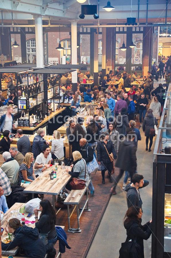 The busy Foodhallen - Adam Szuly Photography
