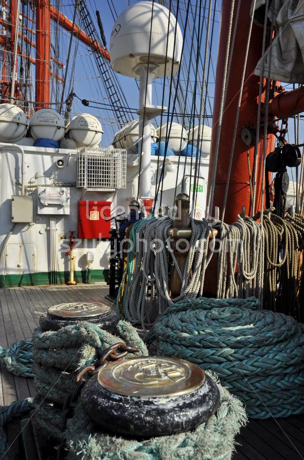 The main deck of the Sedov tall ship - Adam Szuly Photography