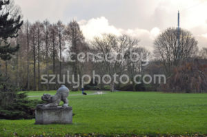 The playing dog statue in the Beatrixpark - Adam Szuly Photography