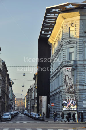 The side of the House of Terror Museum - Adam Szuly Photography