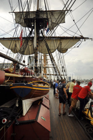 Visitors on the deck of the Goteborg tall ship - Adam Szuly Photography